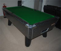 Black Marble Winner Pool Table