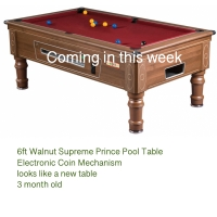.6ft Walnut Prince Coin op