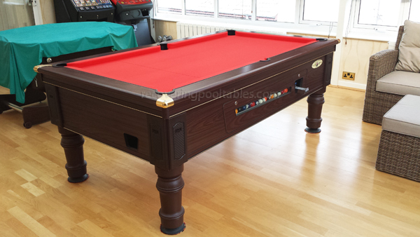 Prince Pool table in Red Smart cloth